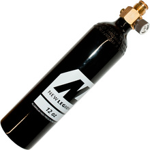 CO2 bottle 12oz with metal on/off valve